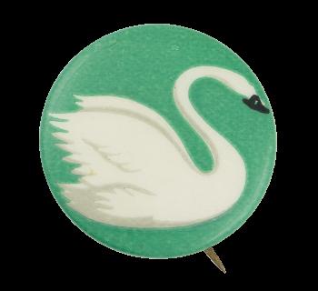 Swan on Green Art Button Museum