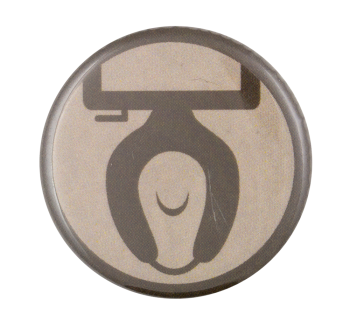 Toilet Graphic Art Button Museum
