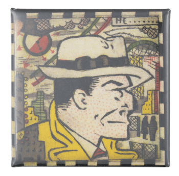 Tony Fitzpatrick Tracy Of Chicago Art Button Museum