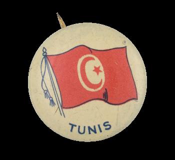 Tunis Flag Art Button Museum