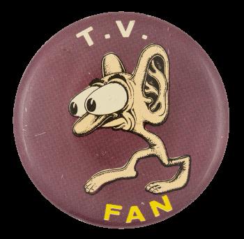 Basil Wolverton T.V. Fan Art Button Museum
