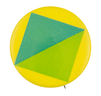 Two Tone Green Square Art Button Museum