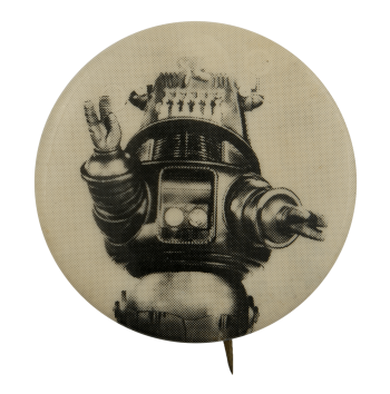 Waving Robot Art Busy Beaver Button Museum