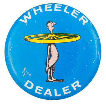 Basil Wolverton Wheeler Dealer ART Button Museum