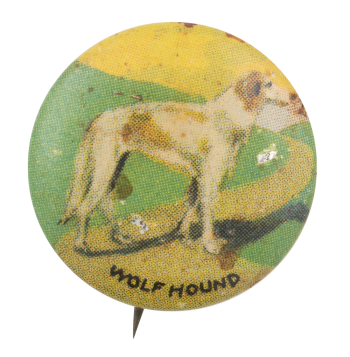 Wolf Hound Art Button Museum