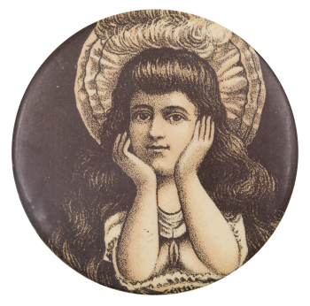 Woman in Hat Art Button Museum