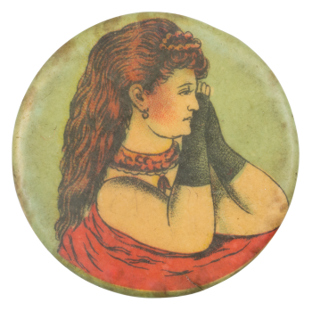 Woman in Red Art Button Museum