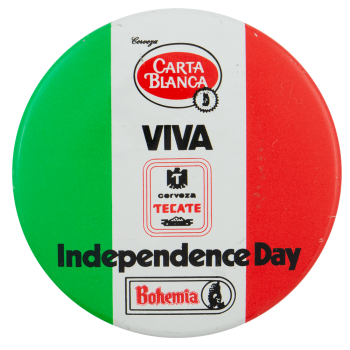 Carta Blanca Independence Day Beer Busy Beaver Button Museum