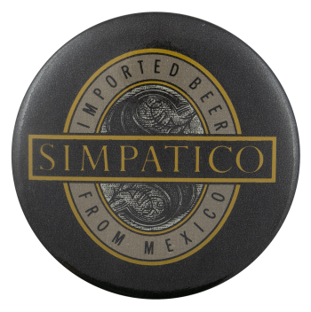 Simpatico Beer Busy Beaver Button Museum