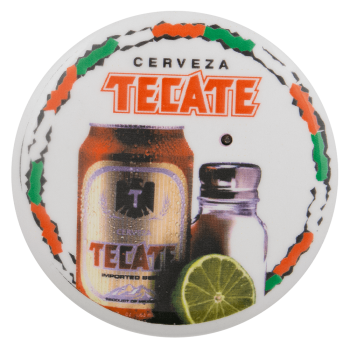 Tecate with Salt and Lime Beer Busy Beaver Button Museum