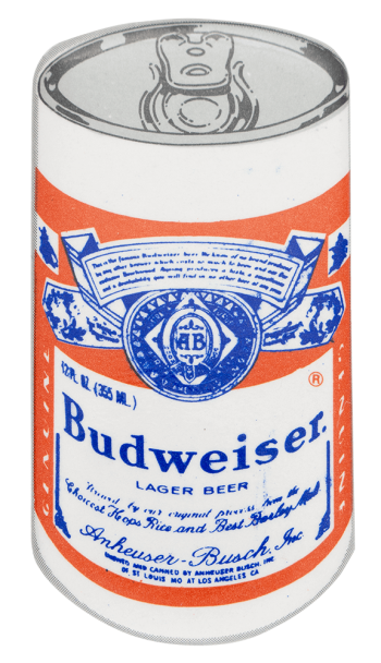 Budweiser Can Beer Button Museum