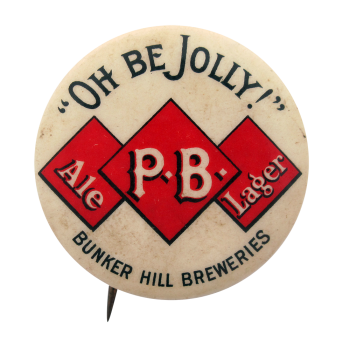 Bunker Hill Breweries Beer Button Museum