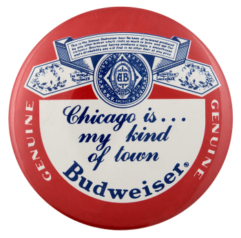 Chicago Budweiser Label Beer Busy Beaver Button Museum