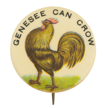 Genesee Can Crow Beer Button Museum