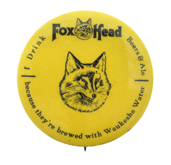 Fox Head Beers and Ale Beer Button Museum