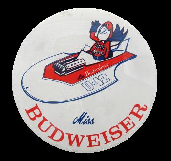 Miss Budweiser Beer Button Museum