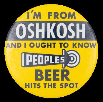 Peoples Beer Beer Button Museum
