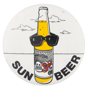 Sun Beer Beer Button Museum