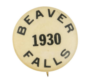 Beaver Falls 1930 Beavers Button Museum