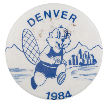 Denver 1984 Beavers Button Museum