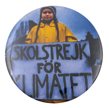 Greta Thunberg Skolstrejk for Klimatet Cause Busy Beaver Button Museum