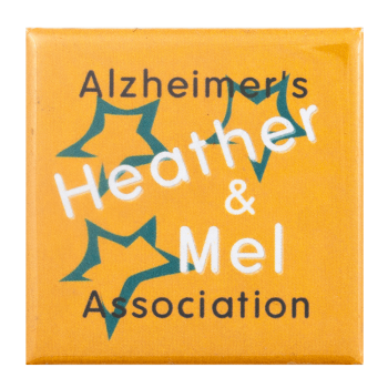 Alzheimer's Association Heather and Mel Cause Busy Beaver Button Museum
