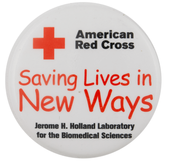 American Red Cross Saving Lives in New Ways Cause Busy Beaver Button Museum