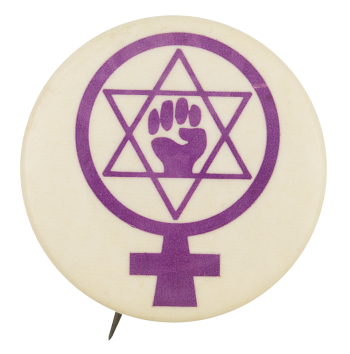 Female Jewish Power Cause Button Museum