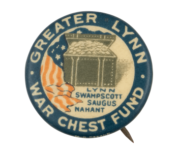 Greater Lynn War Chest Fund Cause Button Museum