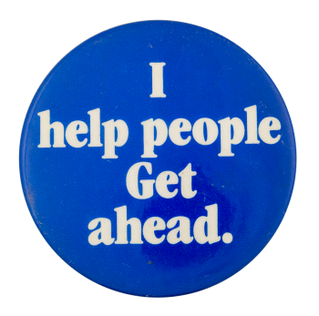 I Help People Cause Button Museum