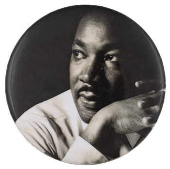 Martin Luther King Jr Photograph Cause Busy Beaver Button Museum