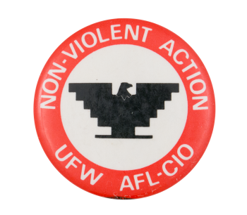Non-Violent Action Cause Button Museum