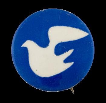 Peace Dove dark blue Cause Button Museum