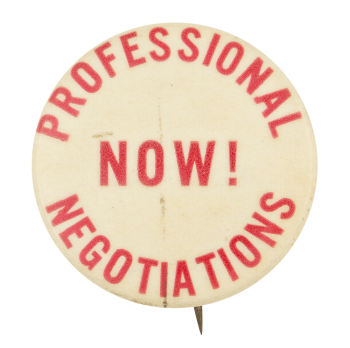 Professional Negotiations Now Cause Button Museum