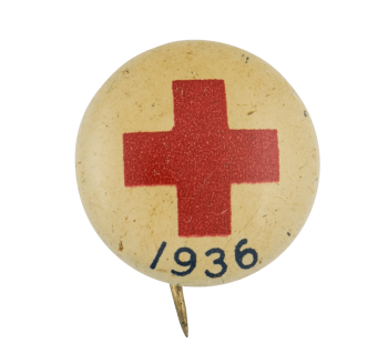 Red Cross 1936 Cause Button Museum