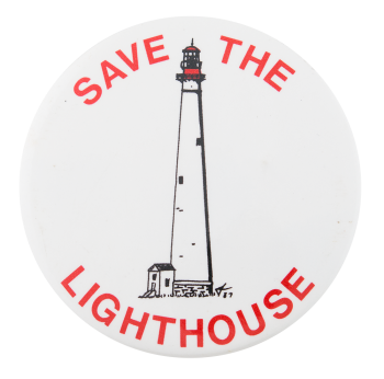 Save the Lighthouse Cause Button Museum