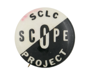 Southern Christian Leadership Conference SCOPE Project Cause Button Museum