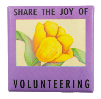 Share the Joy of Volunteering Cause Busy Beaver Button Museum