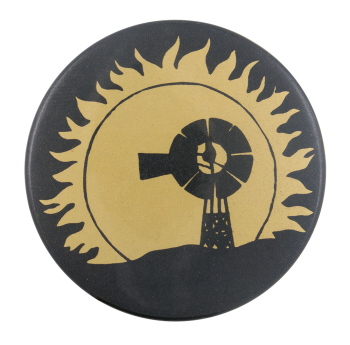 Solar and Wind Power Cause Button Museum