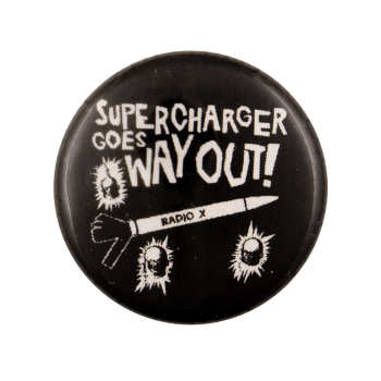 Supercharger Goes Way Out Advertising Busy Beaver Button Museum