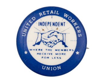 United Retail Workers Union Club Button Museum