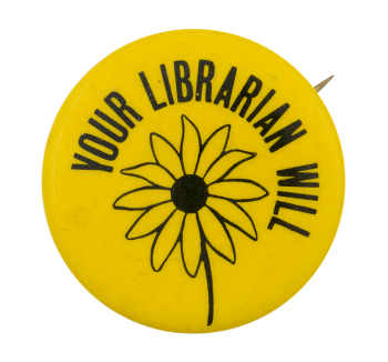 Your Librarian Will Cause Button Museum