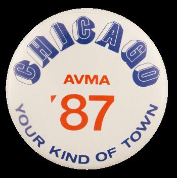 Chicago AVMA 87 Chicago Busy Beaver Button Museum
