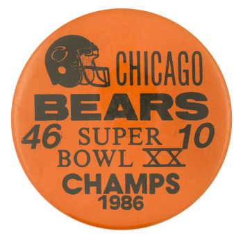 Chicago Bears Super Bowl XX Chicago Button Museum