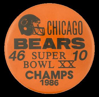 Chicago Bears Super Bowl XX Chicago Button Museum