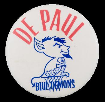 De Paul Blue Demons Chicago Button Museum