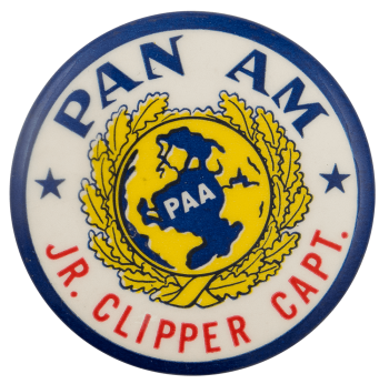 Pan Am Jr Clipper Capt Club Busy Beaver Button Museum