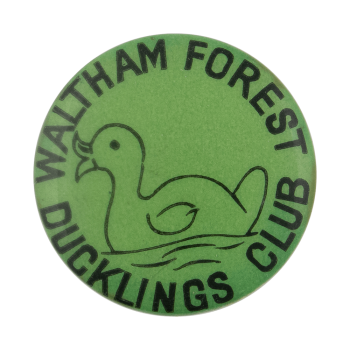 Waltham Forest Ducklings Club Club Busy Beaver Button Museum
