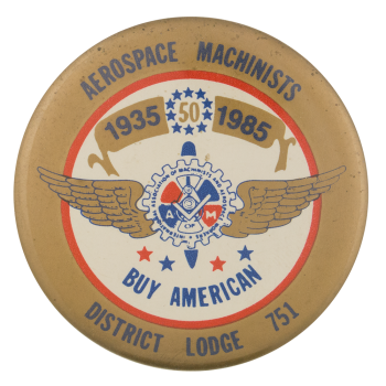 Aerospace Machinists Club Button Museum