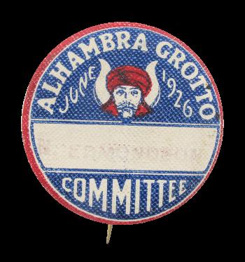 Alhambra Grotto Masonic Organization Club Button Museum
